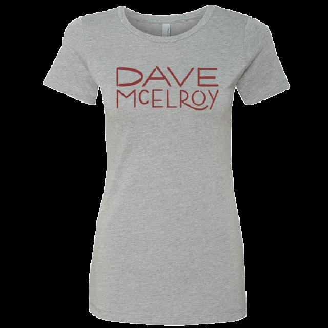 Dave McElroy Ladies Dark Heather Grey Tee