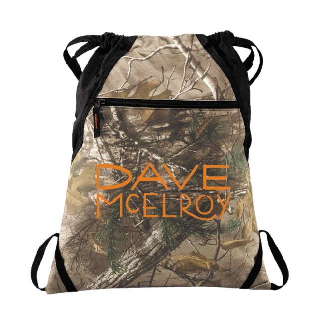 Dave McElroy Camo Cinch Pack
